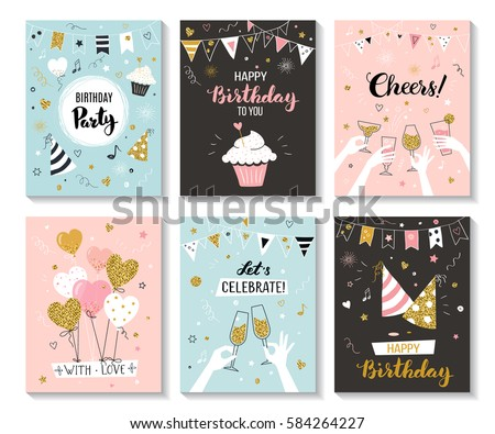 Happy Birthday Greeting Card Party Invitation Vector – Happy Birthday Greeting Photo