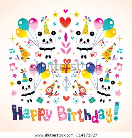 Happy birthday greeting card cute panda stock vector 514171927 happy birthday greeting card cute panda stock vector 514171927 shutterstock bookmarktalkfo Choice Image