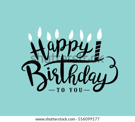 Happy Birthday Greeting Card Lettering Design Vector – Birthday Greetings and Cards