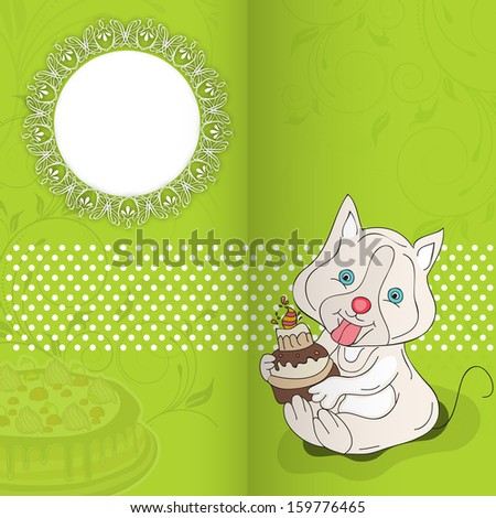 Happy Birthday greeting card with space for your message.  - stock vector