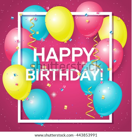 Happy Birthday Colorful Card Design Vector Vector 339595124 – Birthday Greeting Sample