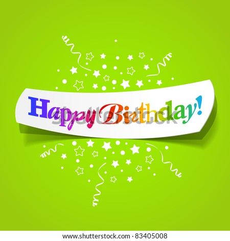 Happy birthday greetings. Vector. - stock vector