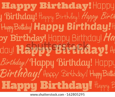 Happy Birthday - Grouped collection of different Happy Birthday text - stock vector