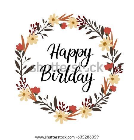 Vector Happy Birthday Card Modern Hipster Stock Vector