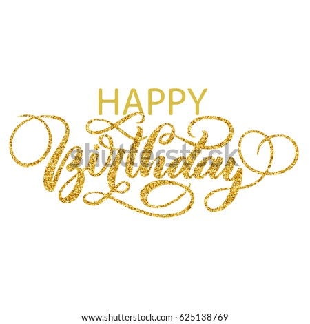 Happy Birthday Vintage Hand Lettering Brush Stock Vector 553406491