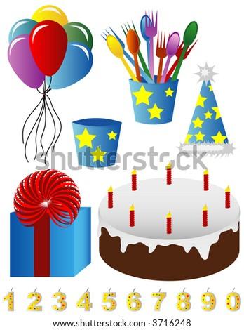Happy Birthday Images - stock vector