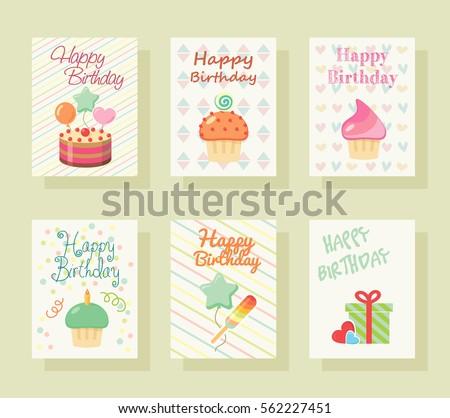 Happy birthday invitation card baby greeting stock vector hd happy birthday invitation card baby greeting postcard happy birthday background design template stopboris Choice Image