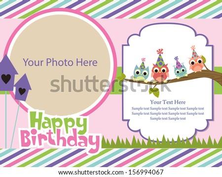 Happy birthday invitation card design vector stock photo photo happy birthday invitation card design vector illustration stopboris Gallery