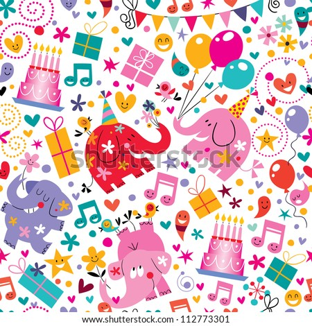 Happy Birthday pattern - stock vector