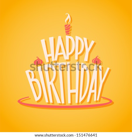 Happy birthday postcard stock vector