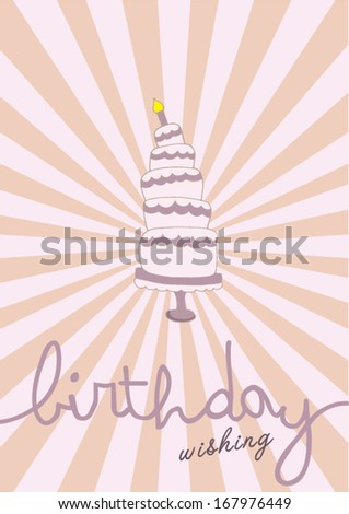happy birthday poster template vector/illustration/ layout design/ background/ greeting card - stock vector