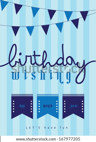 Happy Birthday Poster Template Vectorillustration Layout Stock ...
