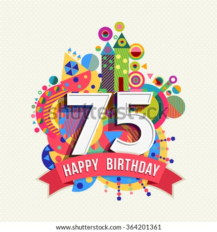 75th Birthday Images RoyaltyFree Images Vectors – 75th Birthday Card