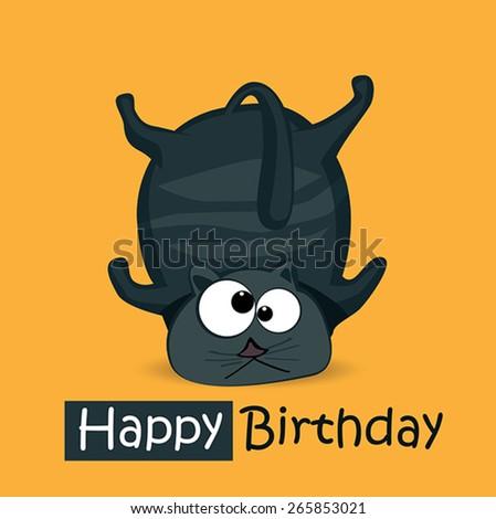Happy Birthday smile cats - stock vector