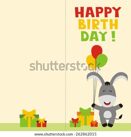 Birthday Donkey Photos RoyaltyFree Images Vectors – Donkey Birthday Card