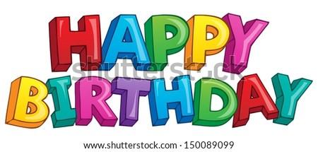Happy birthday theme 4 - eps10 vector illustration. - stock vector