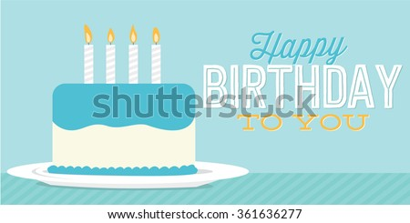 Happy Birthday You Birthday Cake Banner Stock Photo Photo Vector
