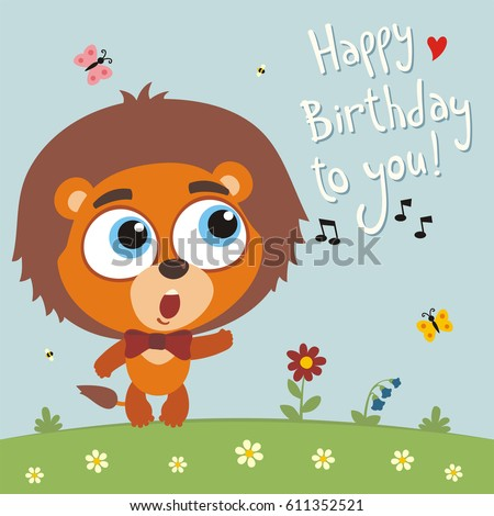 Happy Birthday Vector Card Funny Little Vector 259834700 – Birthday Singing Card