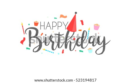 Happy birthday typographic vector design greeting stock vector hd happy birthday typographic vector design for greeting cards birthday card invitation card isolated filmwisefo