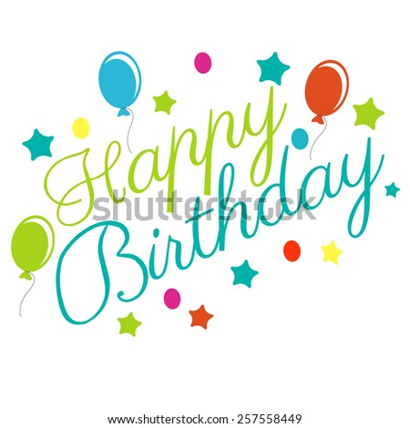 Happy Birthday Typographical Background vector - stock vector