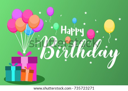 Happy birthday typography vector design greeting stock vector happy birthday typography vector design for greeting cards birthday card invitation card isolated filmwisefo Gallery