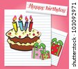 Happy birthday,Vector - stock vector