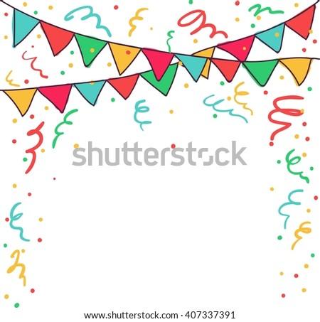 Happy Birthday - vector card, party invitation, banner, eps10 - stock vector