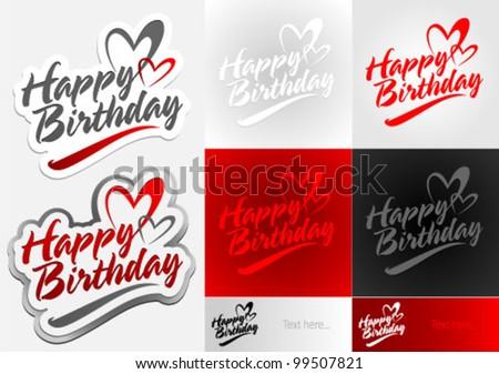 Happy Birthday vector element. Graphic Design Editable For Your Design.  - stock vector
