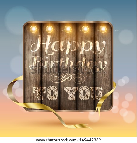 Happy birthday, Vector illustration. - stock vector