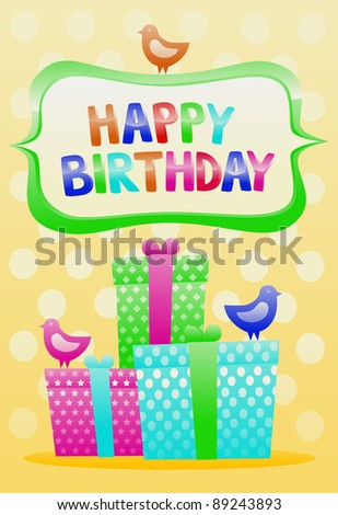 Happy birthday vintage card stock vector