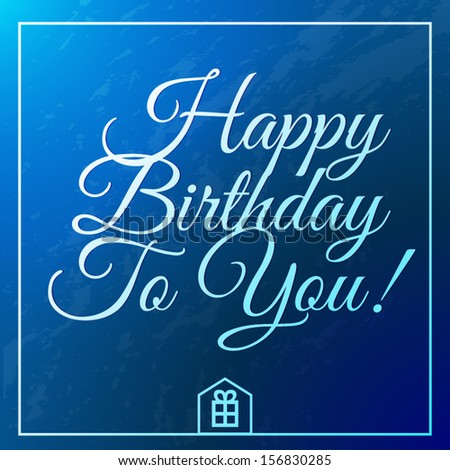 happy birthday vintage greeting card - stock vector