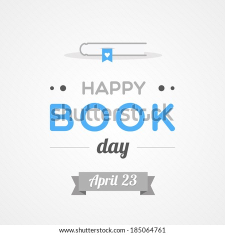 Happy Book Day - stock vector