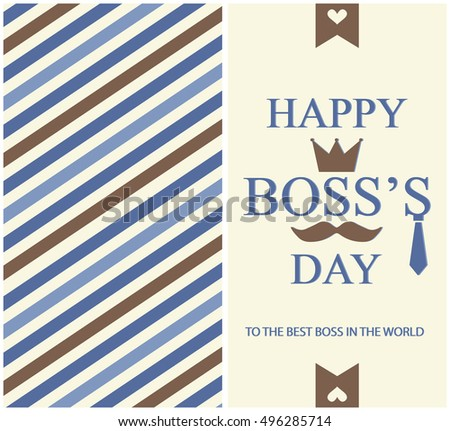 Happy boss day greeting card background stock vector 2018 happy boss day greeting card or background vector illustration m4hsunfo