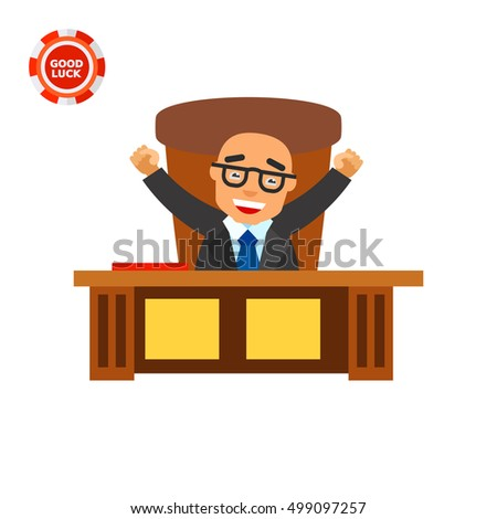Happy Boss Icon Stock Vector 499097257 Shutterstock