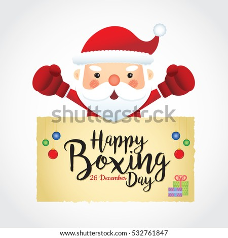 What is boxing day latest news images and photos crypticimages happy boxing day cute santa claus stock vector 532761847 happy boxing day cute santa claus wearing boxing gloves with boxing day sale text isolated m4hsunfo