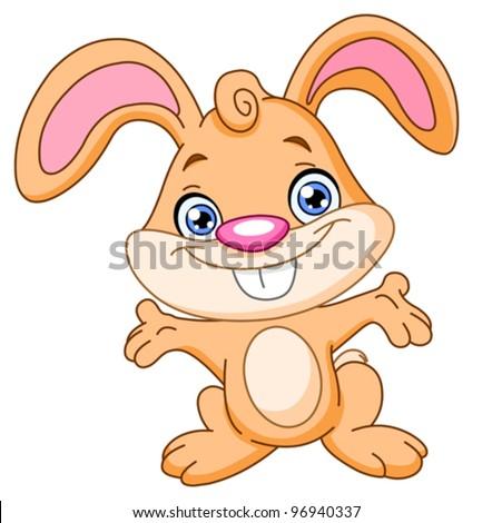 Happy bunny - stock vector