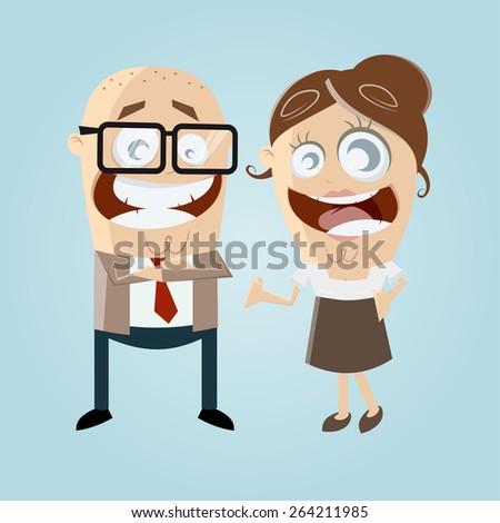 happy business team  - stock vector