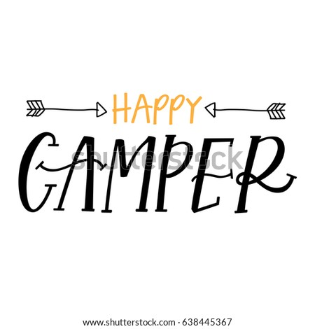 Happy Camper Stock Vector 638445367