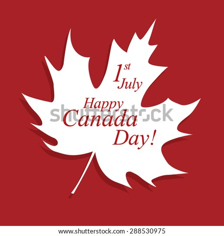 happy canada day! - stock vector
