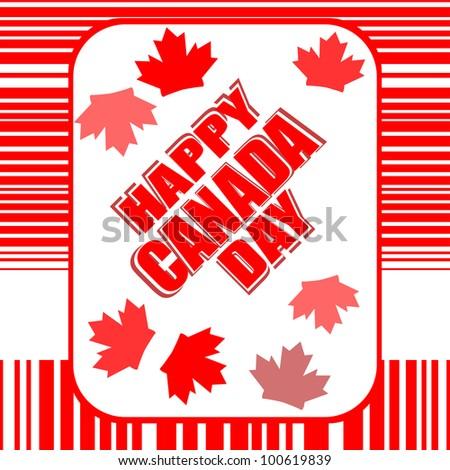 Happy Canada Day card in vector - stock vector