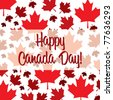 Happy Canada Day card in vector format. - stock photo