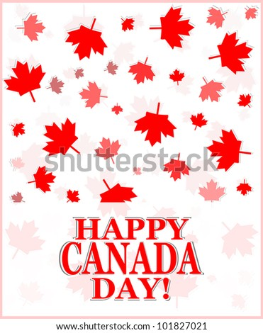 Happy Canada Day card in vector format - stock vector