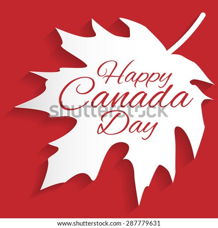 Happy Canada Day card in vector format. - stock vector