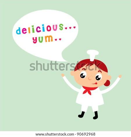 happy chef mama - stock vector