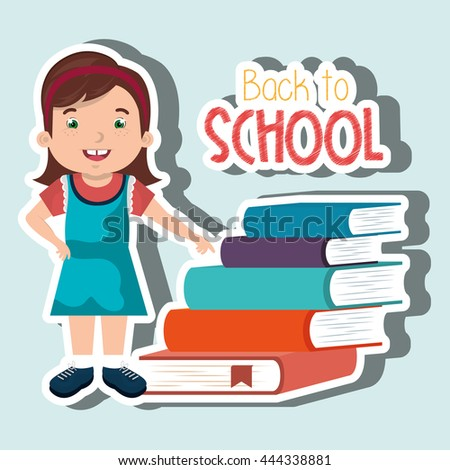 Happy child in school design, vector illustration eps10 graphic