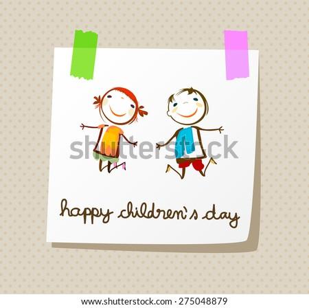 happy children`s day  - stock vector