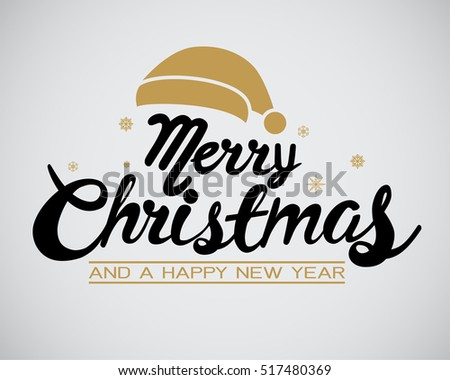 Happy Christmas calligraphy  for banner, poster, greeting card, party invitation.
