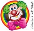 Happy Clown - stock vector