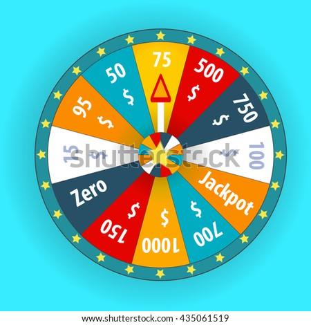 Happy colorful wheel of fortune. vector Illustration. EPS10 - stock vector