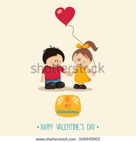 Happy Couple. Valentine's Day - stock vector